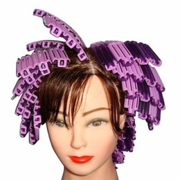 Wholesale Wave Curlers Hair - 45Pcs Pack Hot Sale Magic Hair Clip Hairdressing Styling Wave Perm Rod Corn Curler Make DIY Tool For Women's Beauty Hair styling