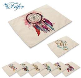 2019 impresión de manteles individuales Colorido pintado a mano Dream Paño Impreso Servilletas Patrones Manteles Impresión de lino de algodón mantel de mesa mantel rebajas impresión de manteles individuales