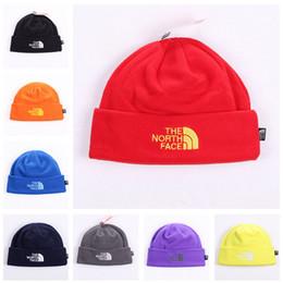 Wholesale Warmest Ear Muffs - Unisex Brand Hat The North Polar Fleece Winter Beanie Skull Caps for Men Women Outdoor Skiing Snood Hats Warm Hip Hop Cap Ear Muff Hot Sale