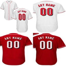 Wholesale Order Baseball Jersey Cheap - Mens Cincinnati Customized With Any Name &Number Cooperstown Throwback Baseball Jerseys Personalized All Stiched Cheap Mix Order