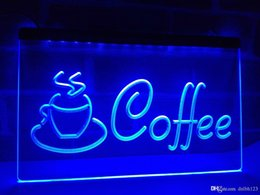 Wholesale lighted coffee signs - LB433b- Coffee Cup Shop Cappuccino Cafe LED Neon Light Sign
