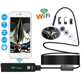 Wholesale Wifi Snake Camera - Newest 8mm 1200P Wifi Endoscope Camera Soft Hard Line Waterproof Snake Camera Endoscopio HD Wifi Video For iPhone Android