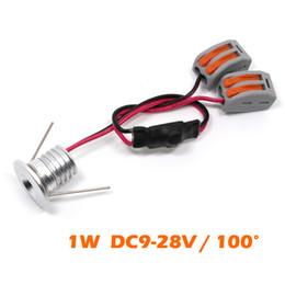 Pequeñas luces de techo online-12 unids / lote 1W super mini LED puntos de luz de alta calidad DC12V / 24V muy pequeño led spot spot Lámparas de recorte D0.59inch IP52