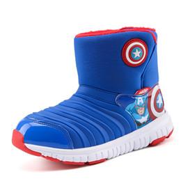 Canada 2018 nouveau style bottes de neige pour enfants enfants haute coupe coton chaussures de bande dessinée bande dessinée villosités épaisses garder au chaud chaussures de plein air Offre