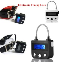 Wholesale Timed Sex Toy - USB Charging Multipurpose Timing Lock Chastity Lock BDSM Fetish For Bondage Slave Training Adult Games Couples Sex Toys