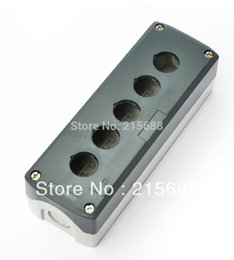 Wholesale waterproof button switch - 2015 NEW 198*68*54mm 5 GANG HOT SELL ELECTRICAL PUSH BUTTON BOX IP65 WATERPROOF BOX BATTERY SWITCH type SBX05