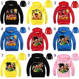 menino dragão Desconto 10 Cores Meninos Meninas Dragon Ball Z Hoodies 2018 Novas Crianças Dos Desenhos Animados mangas Compridas camiseta Hoodies Do Bebê roupa dos miúdos B001