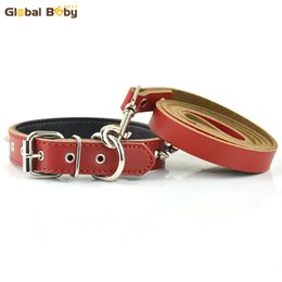Wholesale Spike Studded Collars - Hot Sale Fashion Real Leather Studded Spikes Protective Body Dog Pet Collars and Matched Lead Leashes Set