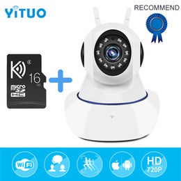 Wholesale Home Security Pets - Wireless IP Surveillance Camera Baby Monitor Pet cam 720P Home Security Video Surveillance CCTV Two way Audio Camara with 16G sd card