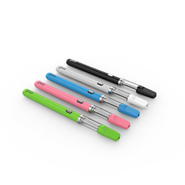 Canetas abertas on-line-Pico colorido Bud Pré-aqueça caneta vape Kits broto toque aberto vape cartucho de bobina de cerâmica de vidro cera de fumar co2 atomizador