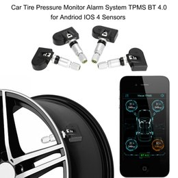 Wholesale Auto Alarm Security System - Car TPMS Tire Pressure Monitoring System Auto Security Car Alarm System BT 4.0 for Andriod IOS 4 Sensors Diagnostic Tool