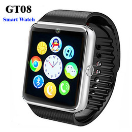 Wholesale Pets Player - GT08 Bluetooth Smart Watch Fashion Square Smartwatches Support SIM Card TF Card Facebook Music Player For Android With Retail Box Package