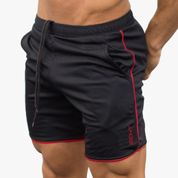 men fitness shorts Promo Codes - Men's Gym cotton Runnin shorts jogging Sports Fitness Sweatpants Male Training short pants