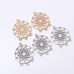 Wholesale vintage jewelry connector - Fashion Charm Pendants Dream Catcher Pendant Connector Necklace Pendant DIY Vintage Jewelry Making Accessories Birthday Gifts Free DHL H6F