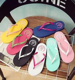 Wholesale Mint Tie - 2017 Casual Fashion Summer Student Flip Flip Lady Korean Large size Non-slip Comfort Soft bottom Sandals