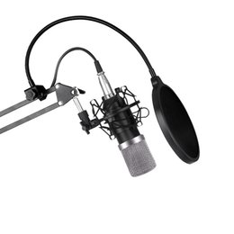 Wholesale Mobile Offering - Microphone bm800 offer set network K song KTV professional condenser microphone for mobile phone + computer + recording host m