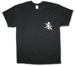 Музыка черных ангелов онлайн-G. O. O. D. хорошая музыка Ангел Херувим черный футболка новый официальный Merch Kanye West