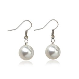 Wholesale 14k White Gold Emerald Earrings - New pearl earrings with the goddess of temperament with ear hook