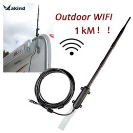 Wholesale Outdoor Wireless Adapter - 1000M High Power Outdoor WiFi Antenna USB Adapter Cellular Signal Amplifier Omni-directional Wireless Network Card Receiver