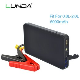 Wholesale portable emergency charger - LUNDA High power 6000mAh emergency car jump starter booster Portable Emergency Battery car Charger for Phone SOS light