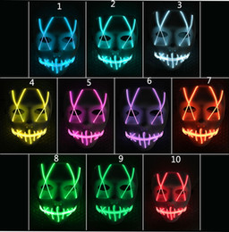 db9c5c84482 LED Light Mask Up Funny Mask from The Purge Election Year Great for  Festival Cosplay Halloween Costume 2018 New Year Cosplay discount light up  mask for ...