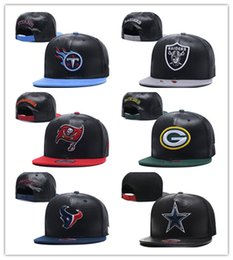 Wholesale Hiphop Leather - Cheap Hot Wholesale 2018 newest fashion style American football leather snapback hat for men women hiphop Brown adjustable caps