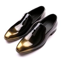 Couro forro homens sapatos de vestido on-line-Homens Sapatos de couro de Negócios Sapatos de Vestido Cores Misturadas estilo de couro de celebridades senhores do calcanhar plana sapatos de forro de couro 37-43