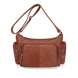 Wholesale First Coffee - 100% First Layer Cowhide Genuine Leather Women Messenger Bags Female Small Shoulder Handbags crossbody Bags For Ladies MM2313