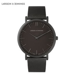 Wholesale Dresses Famous - Famous Montre Fashion Brand larsson and jennings Watches For Men and Women Dress Quartz Watch Leather Stainless Steel Strap Sport Watches