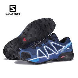 Wholesale Golf Iv - 2018 Authentic Salomon Speed Cross IV CS Mens Designer Sports Running Shoes for Men Sneakers Women Luxury Brand Casual Trainers