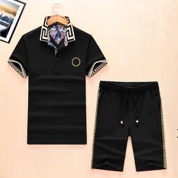 Wholesale Buttons Code - Summer New Pattern Short Sleeve Suit Male Pure Cotton Lapel Short Sleeve Shorts Suit European Code Leisure Time Easy Recruit Agent