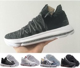 Wholesale B Grade Shoes - 2018 Zoom KD 10 Anniversary PE Oreo Red Men Basketball Shoes KD 10 X Elite Low Kevin Durant Grade School Sport Sneakers 40-46