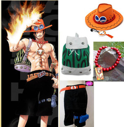 Wholesale One Piece Cosplay Costumes - One piece D Ace Cosplay Costume Set
