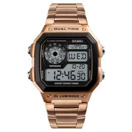 2018 homens relógios esportivos à prova d 'água mens relógios top marca de luxo masculino relógio digital eletrônico homens relógio relogio masculino de