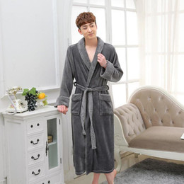 ef9770a582 Sexy Flannel Nightgowns Online Shopping - Thick Warm Kimono Sleepwear For  Women Men Gray Lovers Flannel
