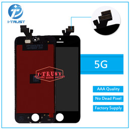 Wholesale High Quality Screen - High quality LCD Display For iPhone 5 5S 5C Touch Screen Digitizer Complete with Frame Full Assembly Replacement With Free DHL Shipping