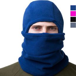 b0c1b591d47 fleece hood scarf Promo Codes - Winter Warm Hat Bike Riding Face masks Hood  Scarf Outdoor