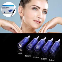 Wholesale Derma Color - 1 3 5 7 9 12 36 42 Nano pins for A1 Dr.pen derma pen microneedle pen rechargeable dermapen dr pen Needle cartridge