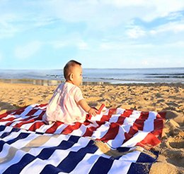 Wholesale pool homes - Striped Microfiber Towels Quick Drying Towel for Home Beach Pool Bath Sports and Outdoor Camping Travel DDA119
