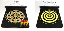 Wholesale Dart Wholesale - In 2018,the new magnetic dart board set, target toy, parent safety double-sided flocking magnetic dart board.