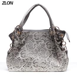 d8431c643 tendências de saco vazio Desconto ZLON Moda Feminina Saco Oco Out Ombre  Bolsa Floral Impressão Bolsas