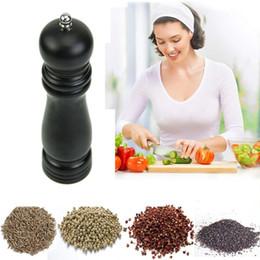 Wholesale Pepper Wood - Classical Manual 7 inch Wood Wooden Peppermill Shaker Pepper Kitchen Spice Salt Mill Grinder Muller Pepper Grinder