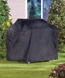 Wholesale rain protection cover - Waterproof BBQ Cover Barbecue Grill Cover Outdoor Rain Protector For Gas Proof Barbecue Protection Shield Black DDA399