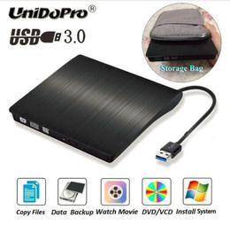HOT USB 3.0 DVD-Recorder Externes optisches Laufwerk DVD-Brenner Slim Ultra DVD-ROM-Spieler Tragbarer Sucker Treiber für Notebook Laptop von Fabrikanten