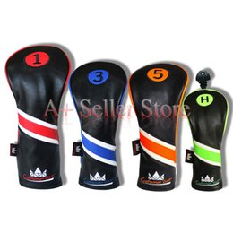 Wholesale Golf Clubs Rescue - *Merry Xmas* Golf Headcover for Driver Fairway FW 3 5 Wood UT Rescue Club 3-Pieces Style Colorful Marking Covers