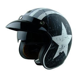 Wholesale Motorcycles Helmet Jet - TORC T57 vintage motorcycle helmet jet Helmets scooter moto helmets with inner shield can add snap bubble shield ECE approved