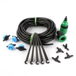 Wholesale Water Pressure Hose - 10m 4 7mm Hose Pressure Compensating Emitter Automatic Plant Garden Watering Kit Gardening Drip Watering Irrigation System
