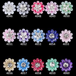 Nuovi disegni del chiodo 3d del fiore online-100 pz lega di fiori 3d nail art sbavato grandi fiori gioielli chiodi design 3d strass nailart decorazioni nuovo arriva 4046-4060