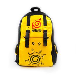backpack naruto UK - 2018 Japan Anime bandana Naruto Sasuke Backpack cartoon Canvas School Bag Teenagers Travel Shoulder Bag