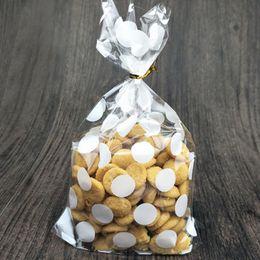 Wholesale Cookies Plastic Bag - 100pcs Clear Plastic Cookies Bags Christmas Cookie Bag Self-adhesive Transparent Cellophane Bags For Wedding DIY Bakery